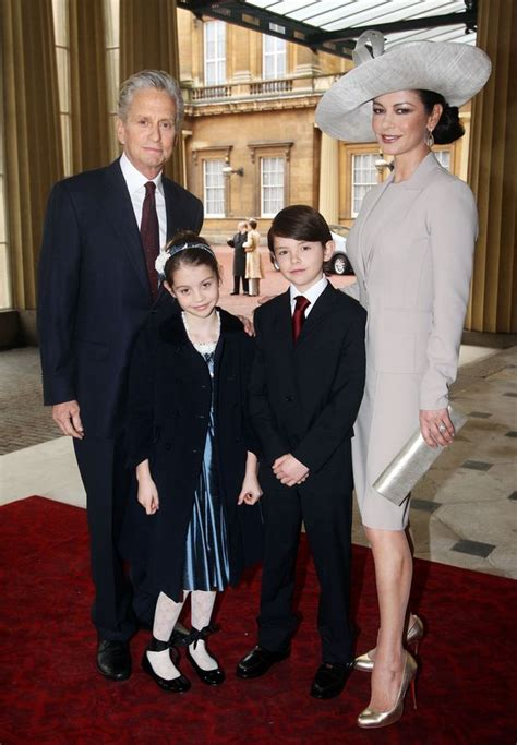 Michael Douglas and Catherine Zeta Jones children are all grown up as they support their father