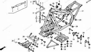 Honda Atv 1987 Oem Parts Diagram For Frame