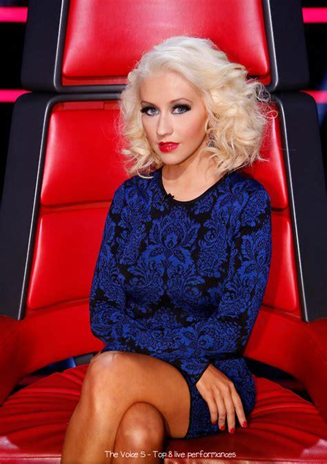 christina aguileras style  voice season  top