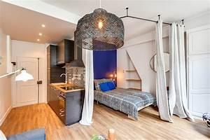35 Qm Wohnung Einrichten : r novation d 39 un studio de 25m2 dans le marais contemporain chambre paris par gommez va z ~ Markanthonyermac.com Haus und Dekorationen