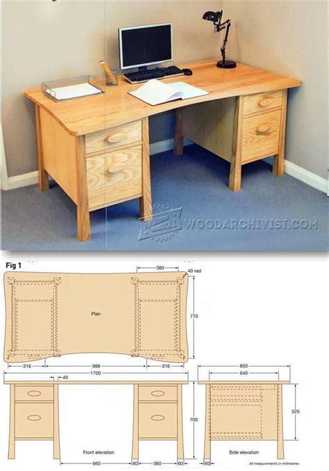 twin pedestal desk plans furniture plans  projects