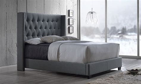 Bed Frame With Quilted Headboard by Container Door Ltd Studded Quilted Bed Frame