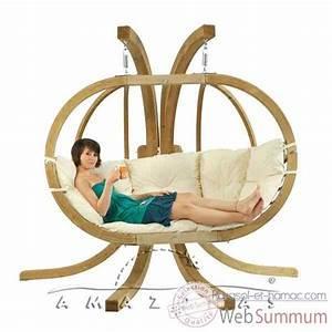 Pied Pour Fauteuil Suspendu : fauteuil suspendu dans hamac amazonas sur parasol et hamac ~ Teatrodelosmanantiales.com Idées de Décoration