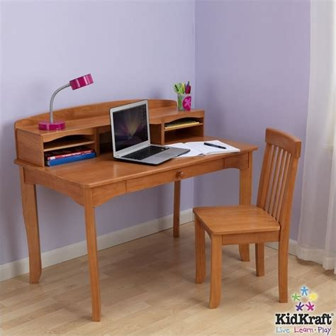 kids desk with hutch kidkraft avalon kids desk with hutch and chair in honey