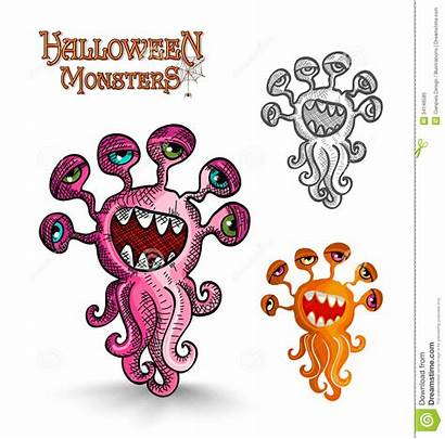 Monsters Eyes Halloween Weird Scary Squid Easy