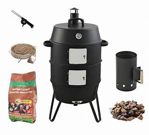 Upright Barrel Smoker : 3 in 1 vertical barrel charcoal smoker bbq grill with two handles buy charcoal smoker bbq ~ Sanjose-hotels-ca.com Haus und Dekorationen