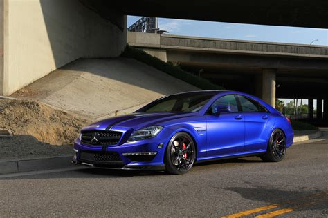 wallpaper mercedes amg cls satin blue vorsteiner