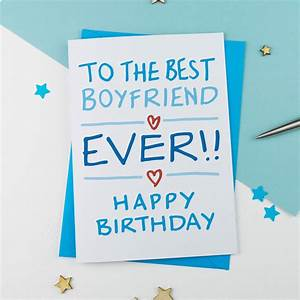 boyfriend birthday card by a is for alphabet ...