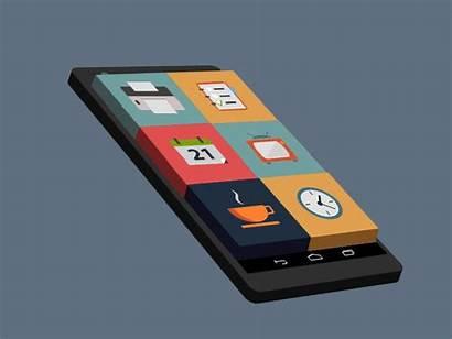 Phone Mobile App Animation Apps Cellphone Development