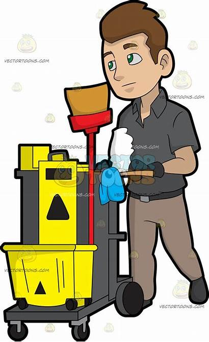 Custodian Clipart Janitor Clip Cleaning Clipground Library