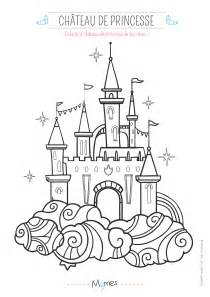 jeu de decoration de chambre coloriage le château de princesse momes