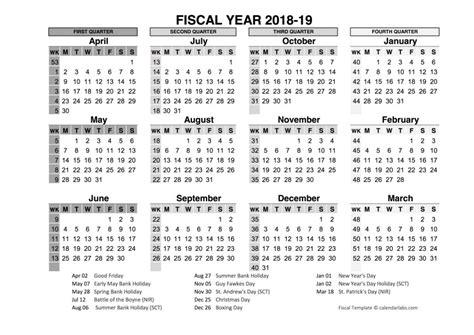 fiscal year calendar word excel format calendar office