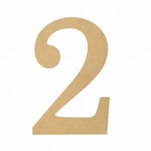 """10"""" Decorative Wood Number: 2 [AB2053] - MardiGrasOutlet.com  2"""