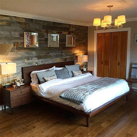 easy peel  stick reclaimed wood walls great idea