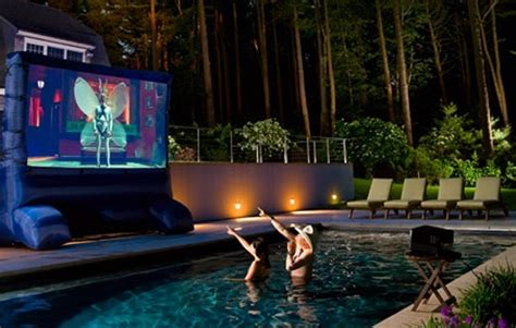 20 Most Beautiful Outdoor Home Theater Ideas