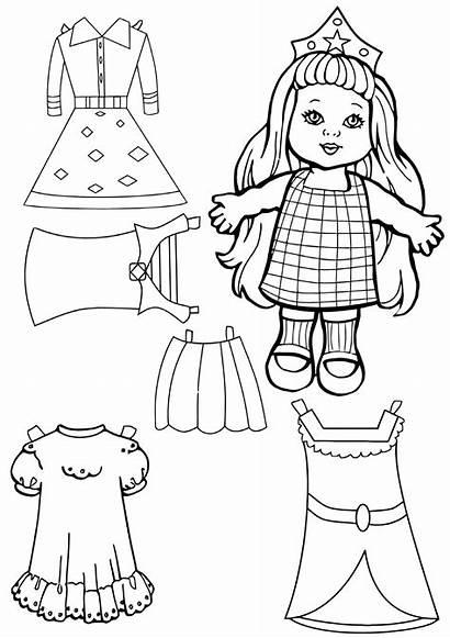 Paper Coloring Dolls