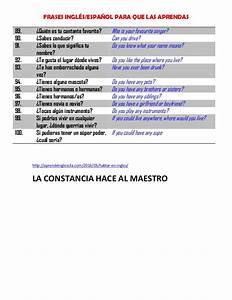 Frases Ingles Espanol