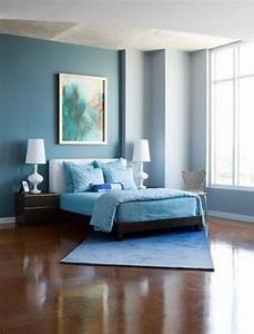 Modern cute blue and brown bedroom interior decoration for Interior design bedroom wall color schemes video