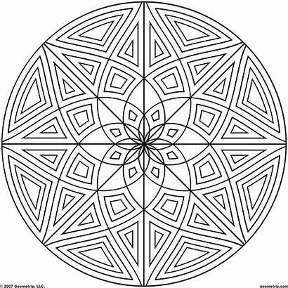 Coloring Pages Geometric Designs Circle Cool Mandala