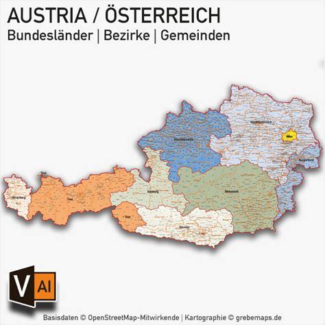 oesterreich austria powerpoint karte bundeslaender