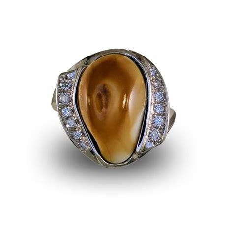 Diamond Elk Ivory Ring   Elk Ivory Jewelry   rings