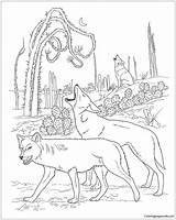 Desert Animals Pages Coloring Print sketch template
