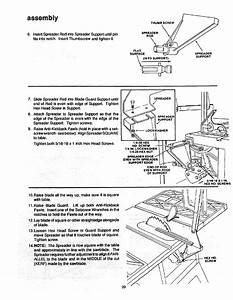 Page 20 Of Craftsman Saw 113 298721  113 298761 User Guide
