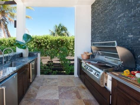 stylish outdoor minimalist kitchen design  ideas