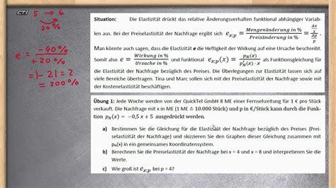 elastizitaet berechnen und interpretieren