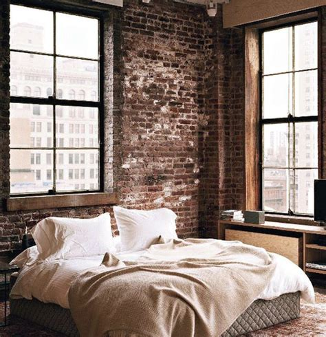 artistic vintage brick wall design home interior furniture design deco chambre homme