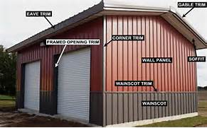Exterior Options For Metal Buildings by Color Chart For Your Steel Metal Buildings