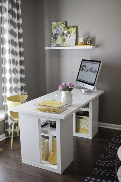 Yellow Office Desk by Yellow And Gray Office Contemporary Den Library Office