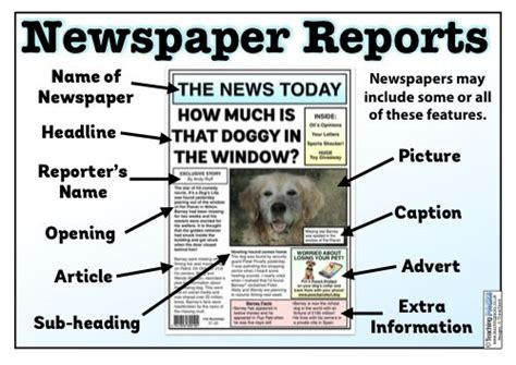 Young people tend to be familiar with the technical terms but not always able to understand fully how. The Newspaper Reports Teaching Pack | Newspaper report, Articles for kids, Report writing skills