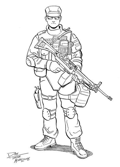 swat guy coloring page printable drawings truck