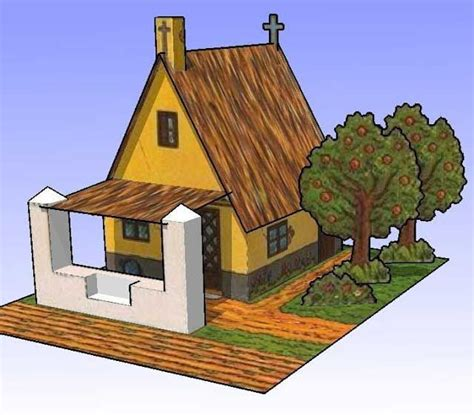 vintage valencian house  building paper model