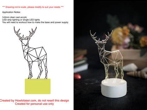 laser cut deer night light
