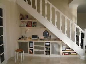 Bureau Sous Escalier : 31 best sous escalier images on pinterest stairs ladder ~ Farleysfitness.com Idées de Décoration