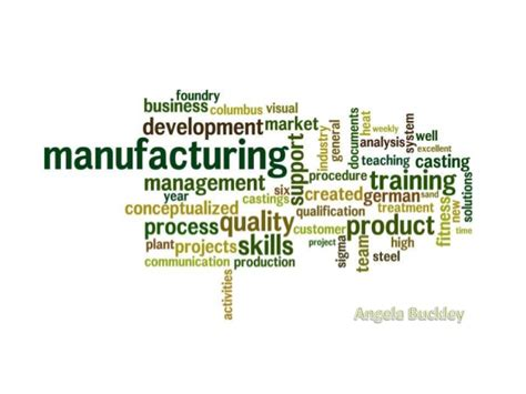 manufacturing leadership resume keywords angela buckley