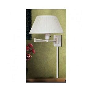 wall mounted swing arm l bedside office reading lighting sconce shade plug in ebay