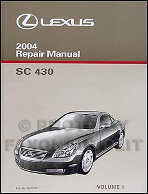 free online auto service manuals 2000 lexus sc electronic toll collection 2004 lexus sc 430 repair shop manual original 2 volume set