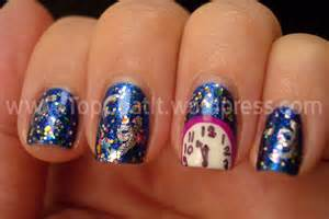Do you want your nails to scream new year s eve then these nail art