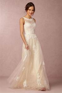 Vintage lace wedding dresses from bhldn modwedding for Lacy wedding dresses
