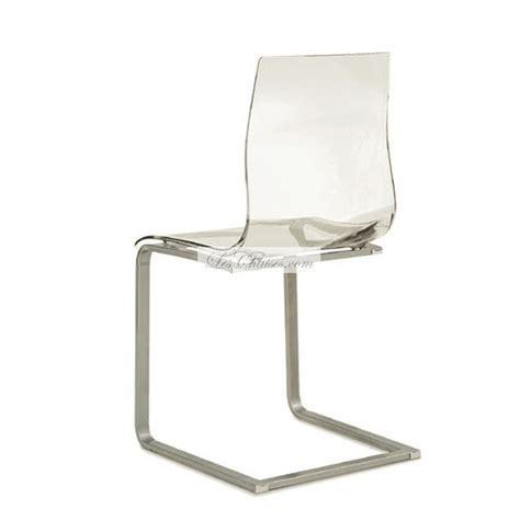 cuisine noir laqué chaise transparente design gel chaises design par domitalia