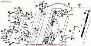 Honda Gl1100a Goldwing Aspencade 1982  C  Usa Front Fork