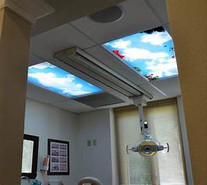 Fluorescent lighting ceiling light covers