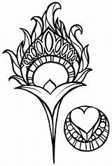 Peacock Feather Coloring Tattoo Drawing Feathers Nouveau Metacharis Clip Deviantart Clipart Tattoos Henna Flowers Simple Heart Mosaic Library Doodle Inspiration sketch template