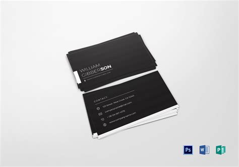 elegant business card design template  psd word publisher