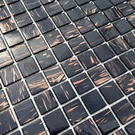 carrelage noir joint noir glass mosaic tile for shower and bathroom vitro noir carrelage inox fr