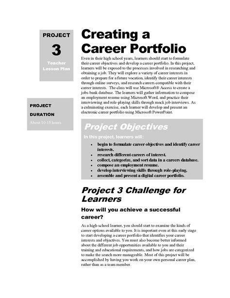 Career Portfolio Template by Career Portfolio Template Template Business