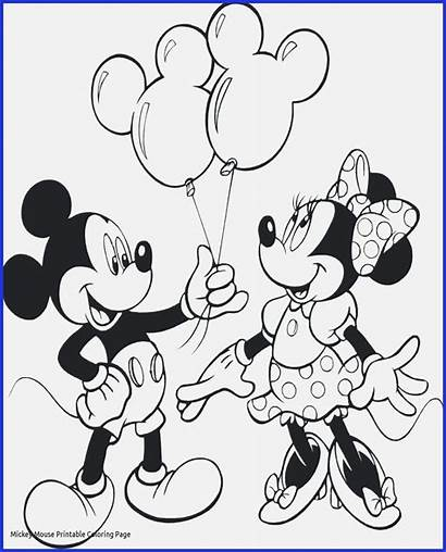 Minnie Mickey Coloring Mouse Printable Colouring Disney